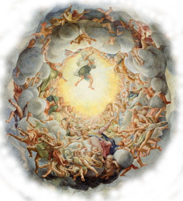 From a chapel ceiling by Correggio